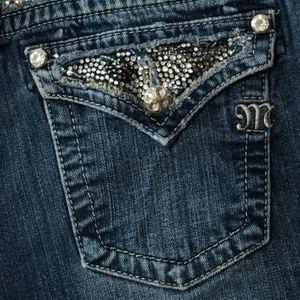 Miss Me Bling Flap Pockets Jeans Sz 30
